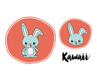 Rabbit character kawaii style isolated icon design Royalty Free Stock Photo