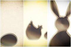 Rabbit chicken and egg easter decoration Stock Photography