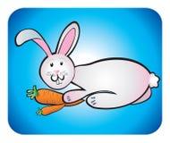 Rabbit children's drawing Royalty Free Stock Photo