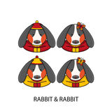 Rabbit Chinese Happy New Year Stock Images