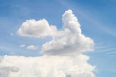 Rabbit cloud shape in the sky Royalty Free Stock Image