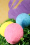 Rabbit with colorful easter eggs Stock Images
