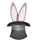 Rabbit coming out of a hat Stock Photo