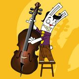 Rabbit contrabass Royalty Free Stock Photo