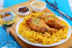 Rabbit Cooked with mustard and wine royalty free stock image