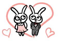 The Rabbit couple royalty free illustration