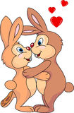 Rabbit couple in love Stock Photo