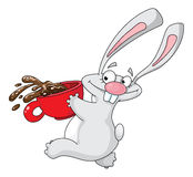 Rabbit and cup Stock Image