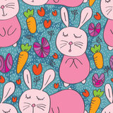 Rabbit cute seamless pattern Royalty Free Stock Photography