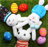 Rabbit doll and easter egg Royalty Free Stock Image