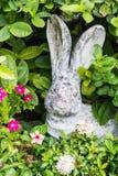 Rabbit doll in garden Stock Photos