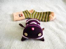Cat hat doll made by socks Stock Images