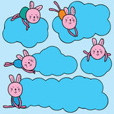 Rabbit dreaming sky Royalty Free Stock Images