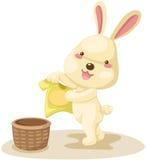 Rabbit dry washing Stock Photos