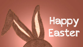 Rabbit Ear with the message Happy Easter Royalty Free Stock Image