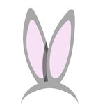 Rabbit ears illustration design Stock Images