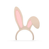 Rabbit ears on white background Stock Photo