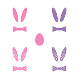 Rabbit ears on white background Royalty Free Stock Photo