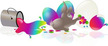 Rabbit easter arts Royalty Free Stock Photos