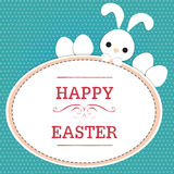 Rabbit on easter card Stock Image