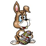 Rabbit Easter Egg. High detailed and coloured illustration stock illustration