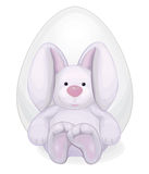 Rabbit with Easter egg Stock Image