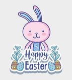 Rabbit easter happy celebration holiday. Vector illustration Royalty Free Stock Photos