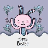 Rabbit easter happy celebration holiday. Vector illustration royalty free illustration