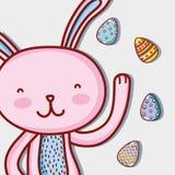 Rabbit easter happy celebration holiday. Vector illustration vector illustration