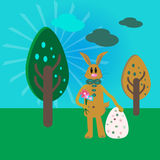 Rabbit for the Easter. Illustration of hand drawn rabbit for the Easter vector illustration