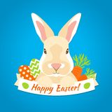 Rabbit Easter Label Royalty Free Stock Image