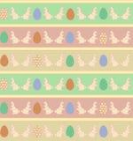 Rabbit Easter seamless pattern. Royalty Free Stock Image
