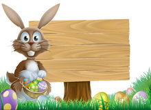 Rabbit and Easter sign Stock Photos