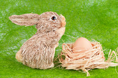 Rabbit and egg Stock Photo