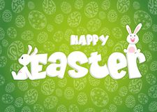 Rabbit and eggs in Easter day.Bunny Ears background. Vector vector illustration
