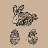 Rabbit eggs easter Stock Images