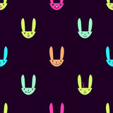 Rabbit Emoticons Pattern-16 Stock Images