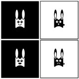 Rabbit emotions Stock Photo