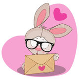 Rabbit with envelope Royalty Free Stock Photo