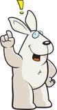 Rabbit Exclamation. A cartoon rabbit making an exclamation