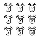 Rabbit face icon vector Royalty Free Stock Photos