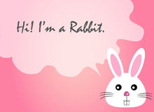 Rabbit face text quote, rabbit vector, rabbit face Stock Images