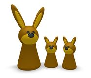 Rabbit family Royalty Free Stock Images