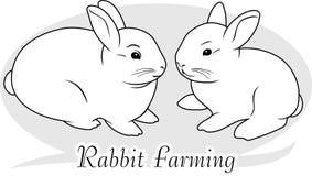 Rabbit farming. Icon for design. Illustration Royalty Free Stock Images