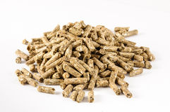 Rabbit feed pelletiert animal food Stock Photos