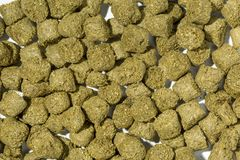Rabbit feed pellets. Made from compressed cereal and grasses Royalty Free Stock Photography
