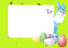 Rabbit with eggs Stock Photos