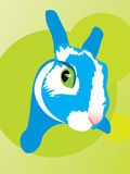 Rabbit fell fright animal bunny eye fear. Funny curious chicken-hearted rabbit royalty free illustration