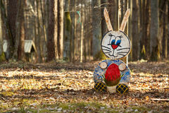 Rabbit figure in the forest Stock Photography