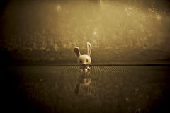Rabbit figurine Stock Photography